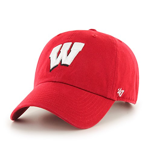 NCAA Wisconsin Badgers '47 Brand Clean Up Adjustable Hat, Red 1, One Size