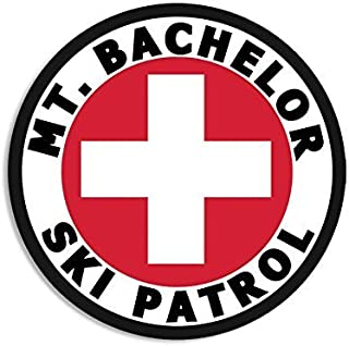 GHaynes Distributing Round MT BACHELOR SKI PATROL Sticker Decal (or oregon mount snow) Size: 4 x 4 inch