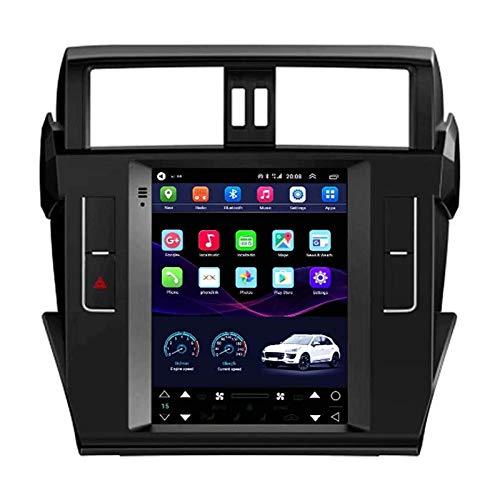 WY-CAR Android 10 Coche Radio para Toyota Prado 2014-2016 Coche Estéreo GPS Navegación Táctil Mostrar Coche Reproductor Doble DIN Head Att Soporte WiFi Control De Volante,4 core-4G+WiFi: 1+16G