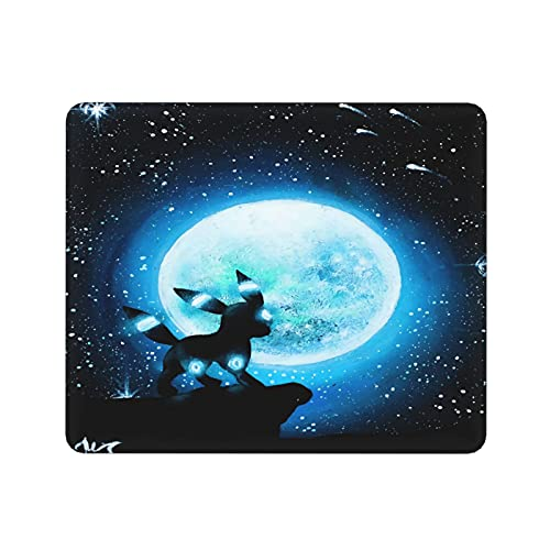 Tapis de souris Pokémon, tapis de souris de gaming de taille moyenne (30 x 25 cm) avec surface résistante à l'eau, base en caoutchouc antidérapant et bords cousus anti-effilochage