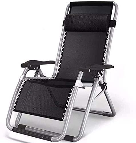 Sedia a sdraio da giardino, sedia reclinabile a gravità zero reclinabile, pieghevole, regolabile a gravità zero, portatile, pieghevole, per piscina, giardino, sedia da campeggio leggera