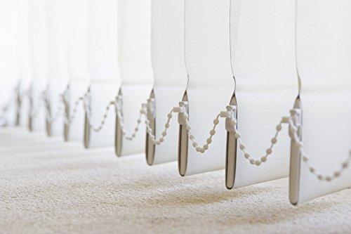 Lamellenvorhang, Vertikal, in 4 Farben und vielen Grössen, Lamellen, Schiebevorhang, Jalousie, Vertikaljalousie, NEU (Weiss, 120 x 180 cm BxH)
