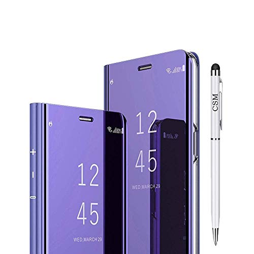 C-Super Mall-UK - Carcasa para Samsung Galaxy S10 5G, diseño translúcido con Espejo retrovisor, Color Violeta
