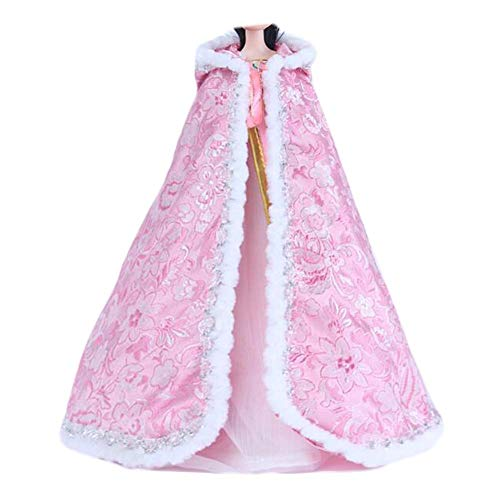 BLANCHO BEDDING Rosa Blume chinesische Art Umhang Puppe Kleidung Antike Hanfu Puppe Kap Umhang für 11 Zoll Puppe