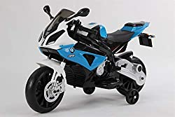 Training wheels on the BMW electric motorcycle The removable training wheels offer a high level of safety on this electric motorcycle for children. They enable even small beginners from the age of three to ride the children's electric motorcycle BMW ...