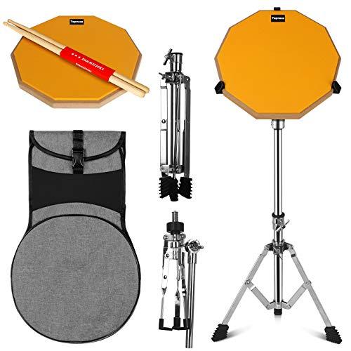 Topnaca 12 Zoll Drum Pad Übungspad Schlagzeug Trommel Practice Pad Drum Set, Schlagzeug Erwachsene mit Drumsticks, Pad Zum Schlagzeug Üben, Übung Schlagzeug Pads Set für Kinder und Erwachsen