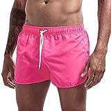 LGQ Pantalones Cortos Deportivos para Hombre, Pantalones Cortos de MMA Muay Thai, Pantalones Cortos de Lucha, Ropa de Boxeo, chándales de Artes Marciales, Pantalones, Ropa Deportiva,Rosado,3XL