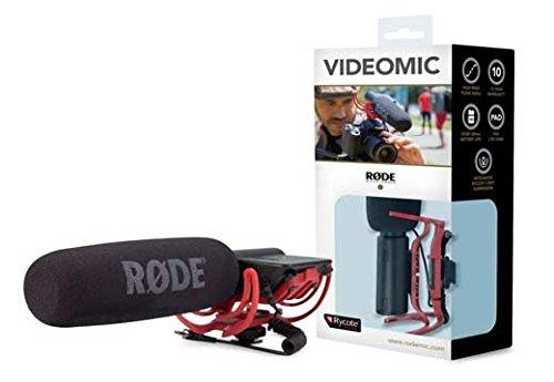 Rode VideoMic Rycote, Microfono Direzionale a Condensatore Mezzo Fucile per Utilizzo con Fotocamere e Videocamere, Minijack 3.5, Nero/Antracite