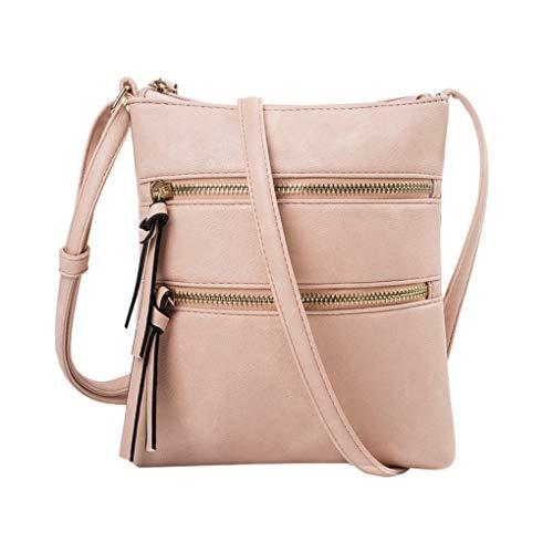 Handy Schultertasche für Damen/Skxinn Mädchen Sportliche Handtasche Umhängetasche Schultertasche aus PU-Leder für Frauen, Wandern, Reisen,Party,Ausverkauf(Rosa)