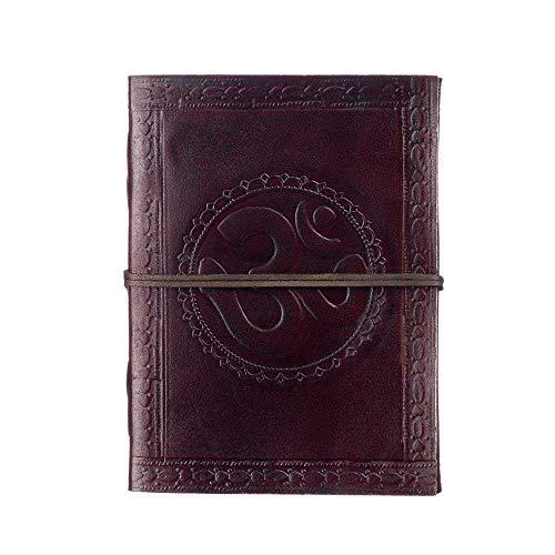 Fair Trade Tagebuch Leder - Ohm 135 x 185 mm