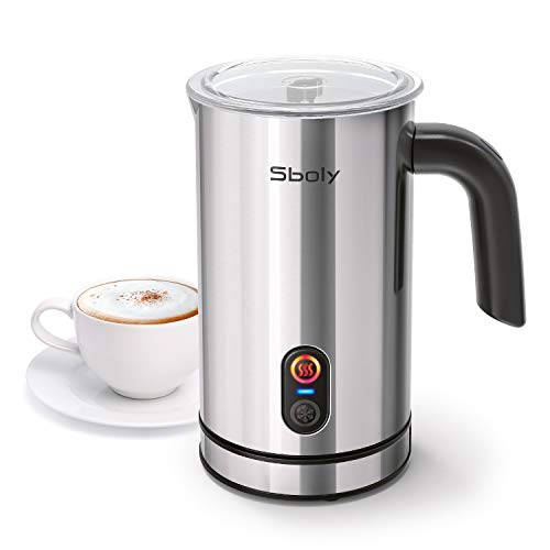 Milk Frother Sboly Electric Milk Steamer with HotampCold Milk Froth Function  Milk warmer and Frother for Coffee Latte Cappuccino Coffee Frother with Strix Control