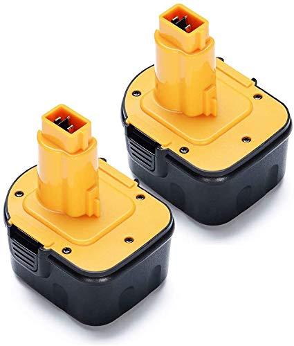 VANON DE9071 - Batería de repuesto para Dewalt DE9501, DE9074, DE9075, DC9071, DE9037, DE9072, DE9091, DW9071, DW9072, DW927, DC756 (2 unidades)