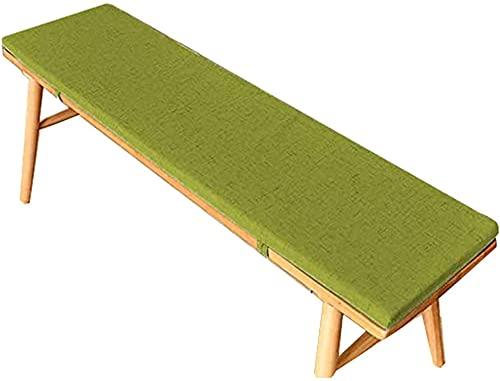 LEIW Cojín grueso de banco para 2 muebles de jardín de 3 plazas, cojín grande para banco de comedor, colchón de repuesto suave para sofá interior, lavable, colchoneta de espuma de alta calidad