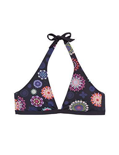 Desigual Damen Biki_Manly Bikini-Set, Schwarz (Negro 2000), 40 (Herstellergröße:L)