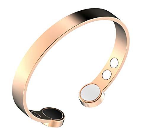 Rosin & Levine Kupfer-Armband mit extra starken Magneten gegen Arthritis, zur Schmerzlinderung, mit negativen Ionen, steigert die Energie