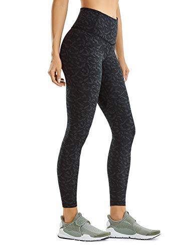 CRZ YOGA Mujer Cintura Alta Deportivas Pantalones Fitness Pantalón Cordón Leggins con Bolsillos - 63cm Leopard Multi 2 46