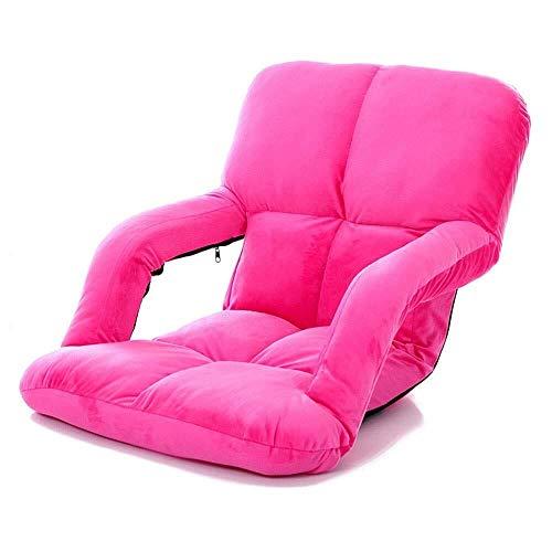 LXH-SH Sofá Perezoso Sofá Plegable Juego Divan alfombras de Piso cómodo, Ligero Seis Colores Acentuados sillón con pies de Madera Maciza (Color: café, Tamaño: tamaño Libre) Sofá Lento