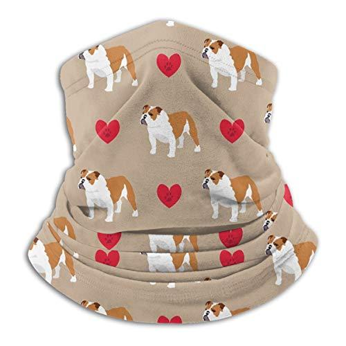 Calentador de Cuello de Microfibra Unisex Colorido Dibujado a Mano Bulldog Inglés Pasamontañas Headwear Bufanda para Polvo Viento Protección Solar