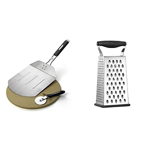 Cuisinart CPS-445, 3-Piece Pizza Grilling Set, Stainless Steel & CTG-00-BG...