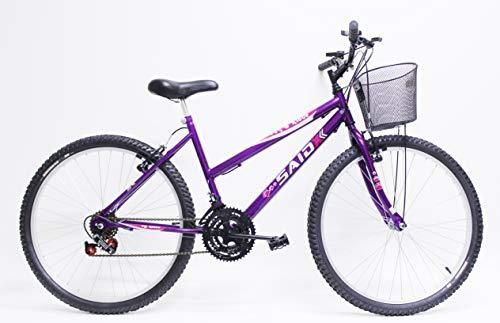 Bicicleta Aro 26 Feminina De Passeio 18 Marchas Saidx (Violeta)