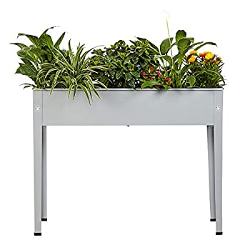 Progard Raised Metal Garden Planter Bed Garden Planter Box Planting Container with Legs Suitable for Outdoor Patio Planting Herbs and Vegetables  Standard