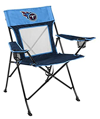 Rawlings NFL Game Changer Large Folding Tailgating and Camping Chair, with Carrying Case, Tennessee Titans