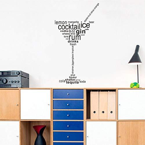 JXFM Engelse beker persoonlijkheid PVC materiaal milieubescherming muursticker 31 * 57cm