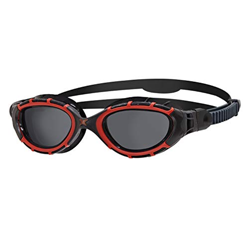 Zoggs Predator Flex Polarized Goggles L red/Black/Smoke Polarized 2020 Schwimmbrille
