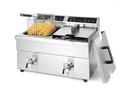 HENDI Inductie friteuse Kitchen Line - dubbel - 16 L - 230V / 7000W - 580x485x(H)406 mm