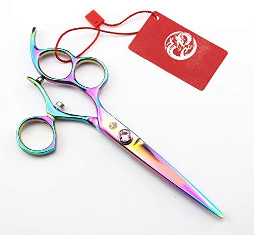 Gaojian 6 inch haarschaar 720 ° draaiende handgreep kleur Platte schaar linkshandige schaar Haarschaar high-end salon 440 C Staal Kapperschaar