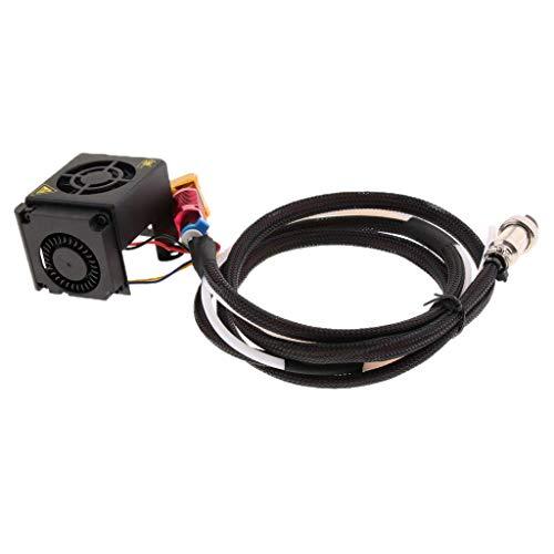 ZANYUYU 3D Printer Extruder Hot Kit mit 0,4 mm Düse, Heizblock, Rohr, Kühllüfter für Creality CR-10 S5