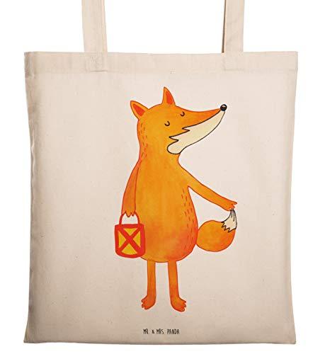 Mr. & Mrs. Panda Shopper, Stofftasche, Tragetasche Fuchs Laterne - Farbe Weiß