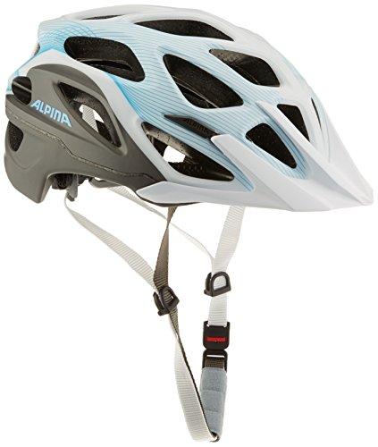 ALPINA Casco Mythos 3.0 para Bicicleta, Primavera/Verano, Unisex, Color Blanco/Azul, tamaño 57-62 cm