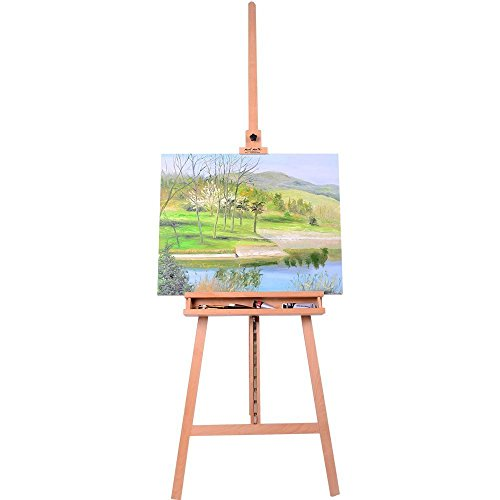 Mont Marte Large Painters Easel Adjustable Beech Wood Artist Easel, Studio Easel for Adults
