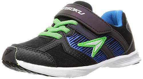 [シュンソク] スニーカー 運動靴 最軽量 抗菌 防臭 16~25cm 2E キッズ 男の子 SJJ 9290 ブラックマルチ 23.0 cm 2_e