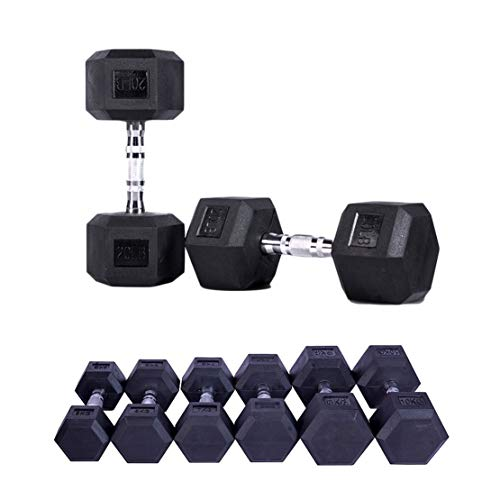 Gummi Hex Hanteln 1 Stck - 2.5 kg bis 15 kg Home Gym Fitness Übung Workout Training Fitnessgeräte Training Arm Muscle Fitness,12.5kg