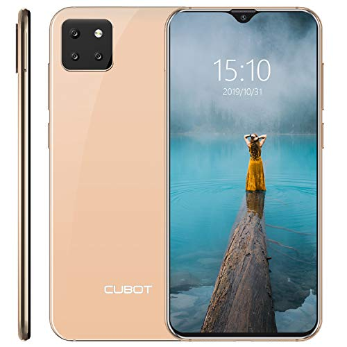 CUBOT X20 Smartphone 6.3 Pollici Tripla Fotocamere Android 9 Pie 4GB 64GB 4000mAh Octa-core Dual SIM Supporto Face ID 4G Cellulare Oro