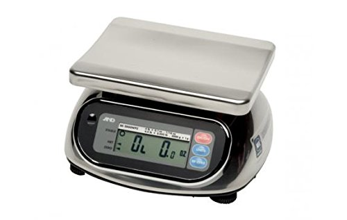 Price comparison product image A&D Engineering SK-5000WP Stainless Steel Washdown Scale,  NTEP Approved,  5, 000g Capacity,  2.0g Increments
