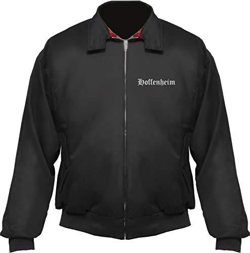 HB_Druck Hoffenheim Harrington Jacke - Altdeutsch - Bestickt - Blouson Schwarz XL