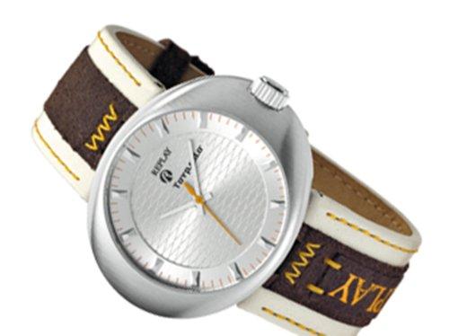 Replay RX5201AB - Reloj analógico de caballero de cuarzo con correa de piel marrón