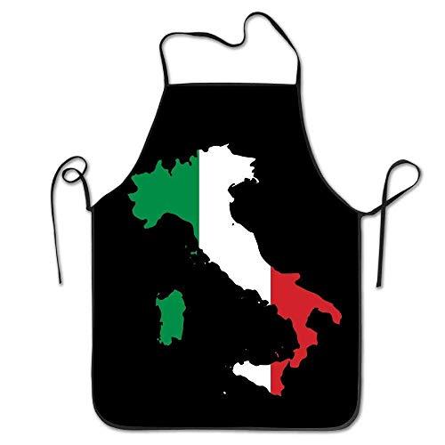 Magnifique pratique marchandises Italia Italie italien carte humoristique Tablier de cuisine barbecue cuisson griller Tablier Noir