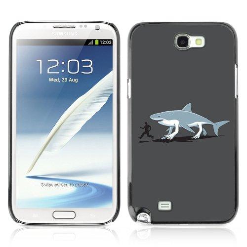 YOYOSHOP [Funny Shark Illustration] Custodia Case Cover per Samsung Galaxy Note 2
