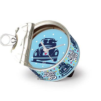 Brisa VW Collection - Volkswagen Escarabajo Coche Beetle Reloj de Mesa Magnético, My Clock Personalizable, Regalo Original con Foto, Marco de Fotos, DIY (Love That Bug)