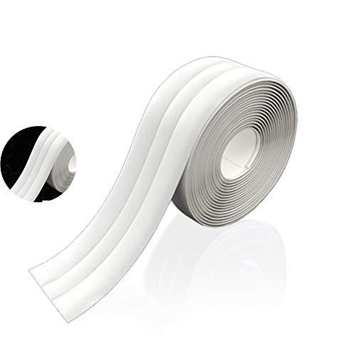Dichtband Selbstklebend, Wasserdichtes klebeband,mit Dichtungswerkzeug, Antischimmel-Dichtmittel, Verwendet in Küchenecke, Bad (Weiß, Doppelte Falte, 3.8 cm x 3.2m)