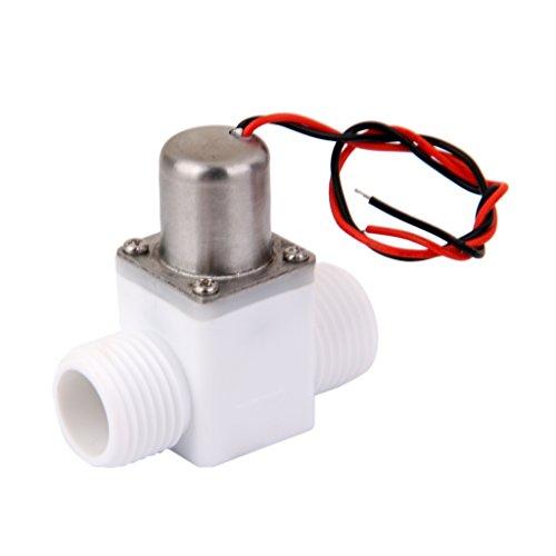 F Fityle Interruptor de Flujo de Entrada de Agua de Válvula Solenoide Eléctrica Macho de Plástico G1 / 2 3.6V DC