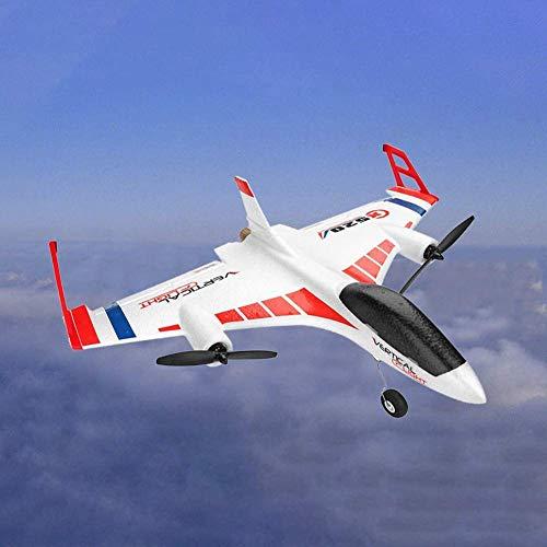 LXDDP RC Helicóptero Planeador Control Remoto X520 Vertical Home Land Delta Wing Aircraft Modo Vuelo 3D/6G El Control Remoto 2.4GHz pueser Tan grancomo 150m Gran caída Niños Adultos Drone Flying Toy