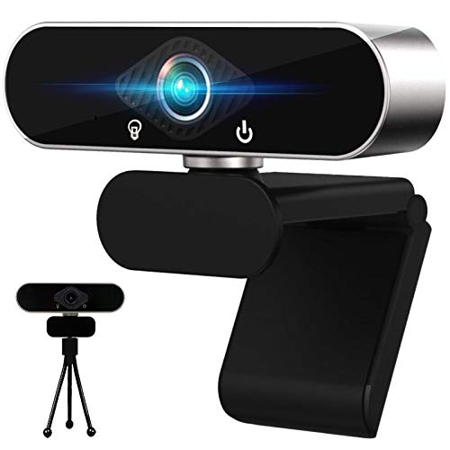 Webcam HD 1080P, With Microphone, Privacy Protection Cover, Desktop or...