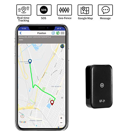 GPS Tracker Mini Portable SOS GPS Location Tracker Real Time Anti-Theft Spy Tracking 2G GSM Finder for Vehicles Kids Dogs Cats Keys Motorcycles Pets Car (Sim Card Not Included)