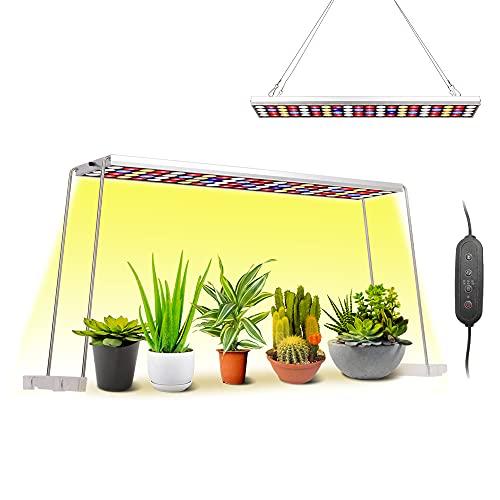 JCBritw Lámpara de cultivo LED de 100W con soporte blanco rojo azul de espectro completo lámpara colgante regulable con de temporizador luz hidropónica para plantas de interior plántula flor vegetal
