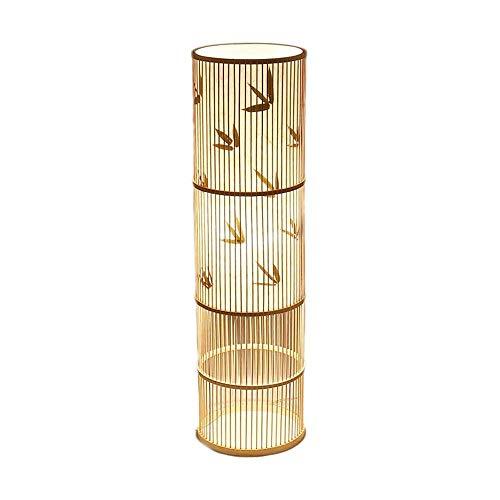 HNWNJ lámpara de pie tipo loft Creative Rattan Sala de estar Lámpara de pie Sofá Lámpara de pie Estudio Dormitorio Vertical Lámpara de mesa Creativa Personalidad China Lámpara de pie de cama de cabece